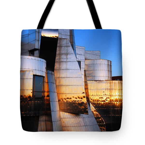 Reflections Of Sunset Tote Bag by James Kirkikis