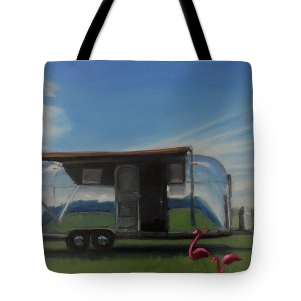 Reflections Of The Airstream Factory Tote Bag