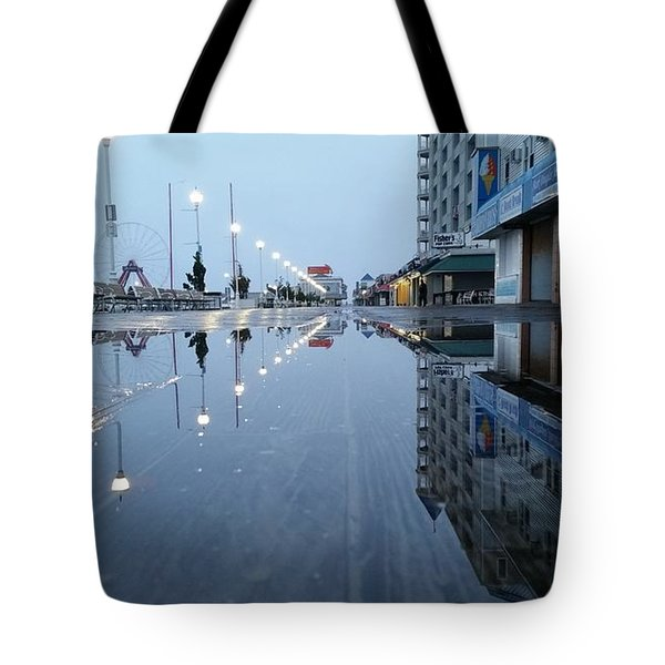 Reflections Of The Boardwalk Tote Bag