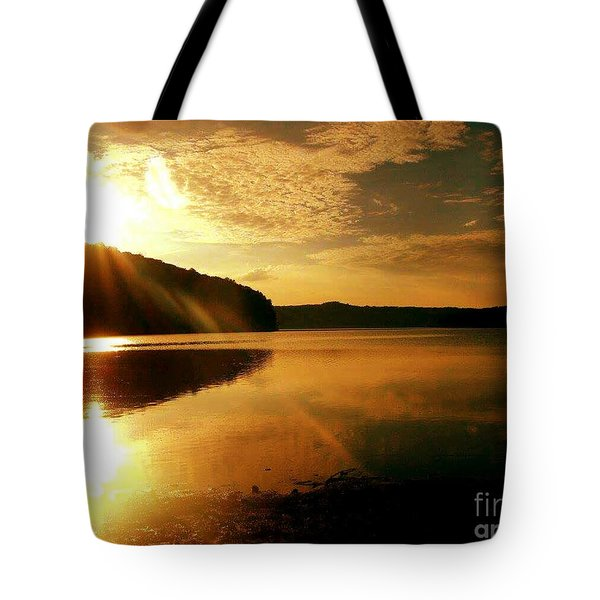 Reflections Of The Day Tote Bag