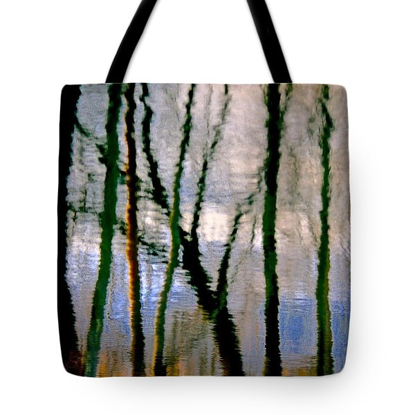 Reflections Of The Forrest Tote Bag by Gillis Cone