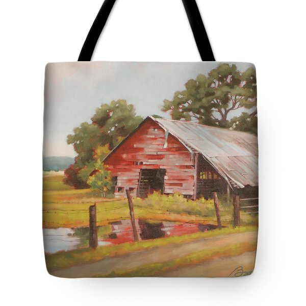 Reflections Of The Past Tote Bag by Todd Baxter