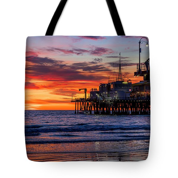 Reflections Of The Pier Tote Bag