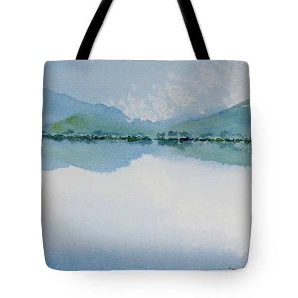 Reflections Of The Skies And Mountains Surrounding Bathurst Harbour Tote Bag