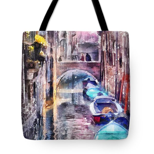 Reflections Of Venice Tote Bag by Shirley Stalter
