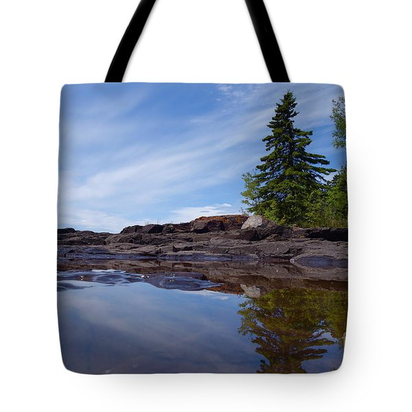 Tote Bag featuring the photograph Reflections On A Superior Day #2 by Sandra Updyke