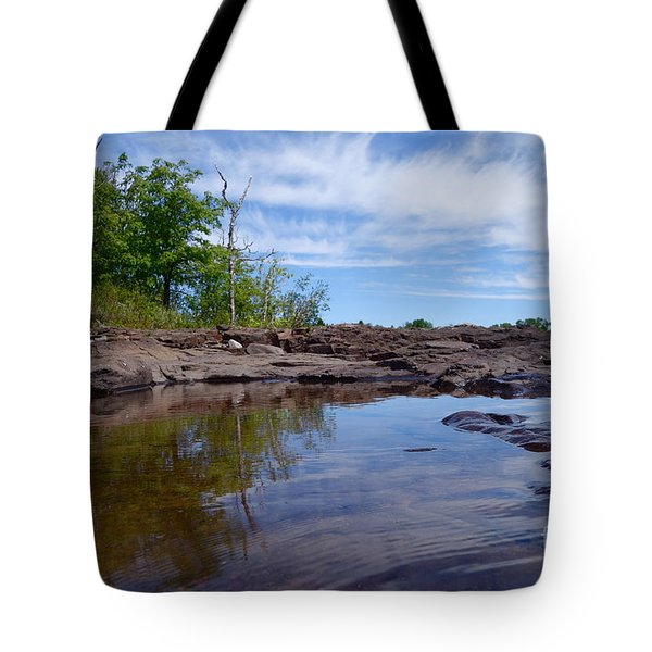 Tote Bag featuring the photograph Reflections On A Superior Day by Sandra Updyke