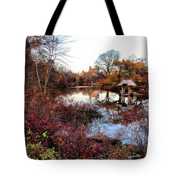 Tote Bag featuring the photograph Reflections On A Winter Day - Central Park by Madeline Ellis