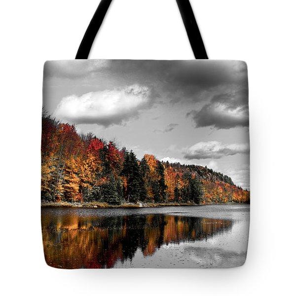 Reflections On Bald Mountain Pond II Tote Bag