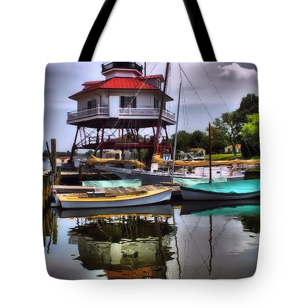Reflections On Golden Creek Tote Bag