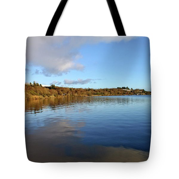 Reflections On Lough Fea. Tote Bag