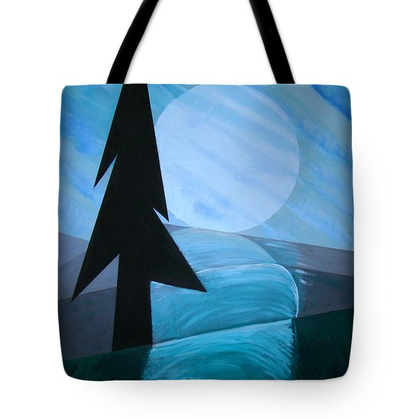 Tote Bag featuring the painting Reflections On The Day by J R Seymour