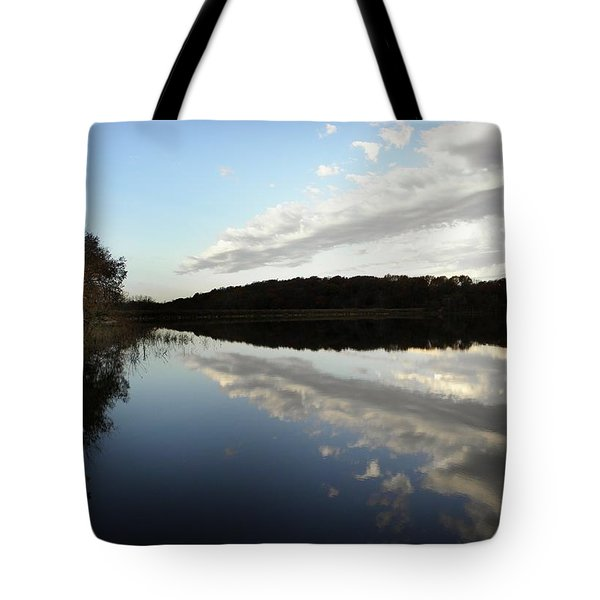 Tote Bag featuring the photograph Reflections On The Lake by Chris Berry