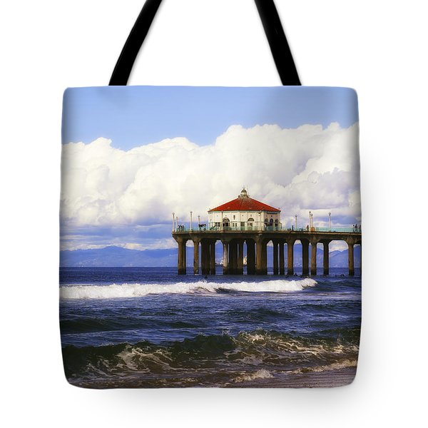 Reflections On The Pier Tote Bag