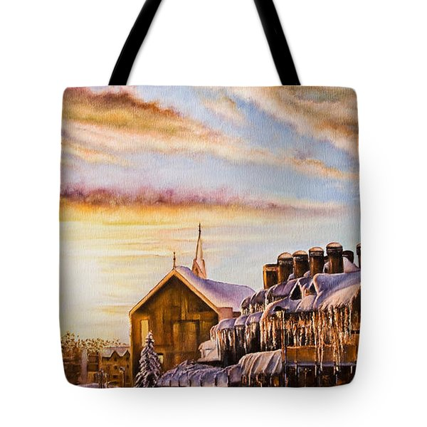 Reflections On The Snow Tote Bag