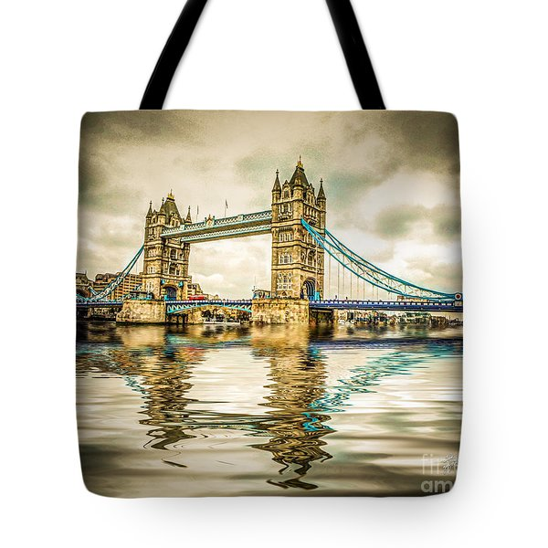Reflections On Tower Bridge Tote Bag
