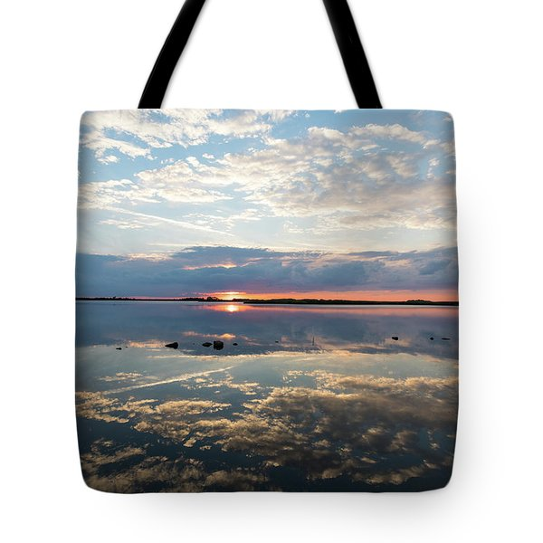 Reflections Over Back Bay Tote Bag
