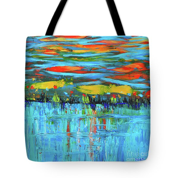 Reflections Sky And Landscape Abstract Tote Bag
