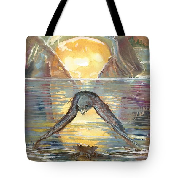 Reflections Swallowed Tote Bag