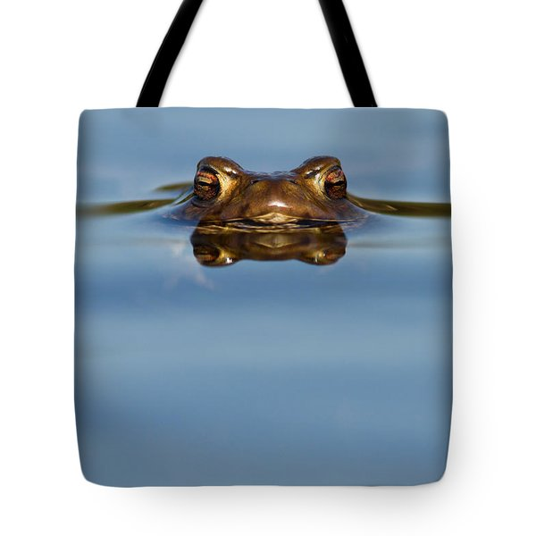 Reflections - Toad In A Lake Tote Bag by Roeselien Raimond