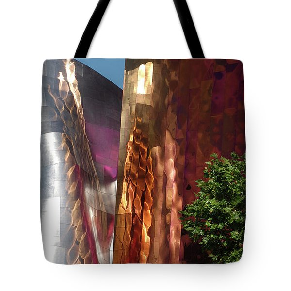 Reflective Buildings Tote Bag