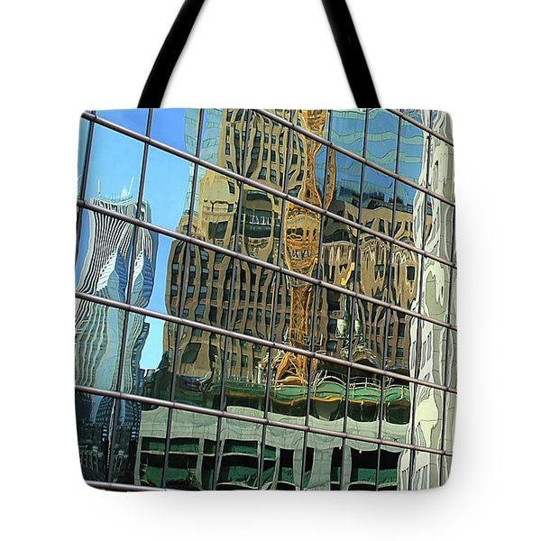 Reflective Chicago Tote Bag