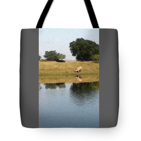 Reflective Cow Tote Bag