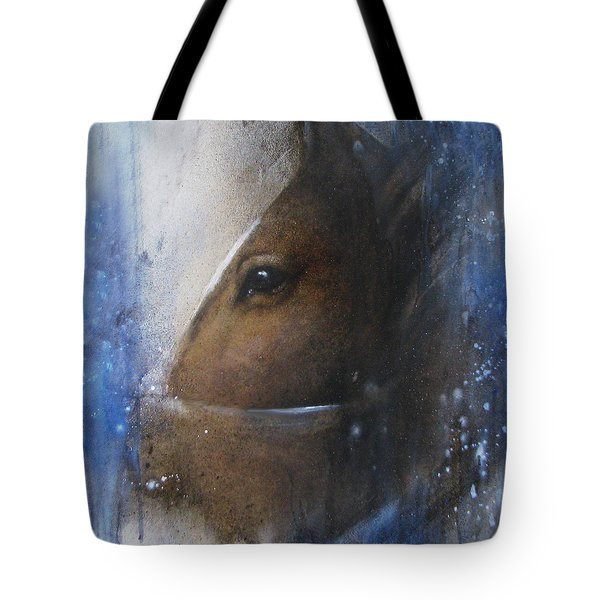 Reflective Horse Tote Bag
