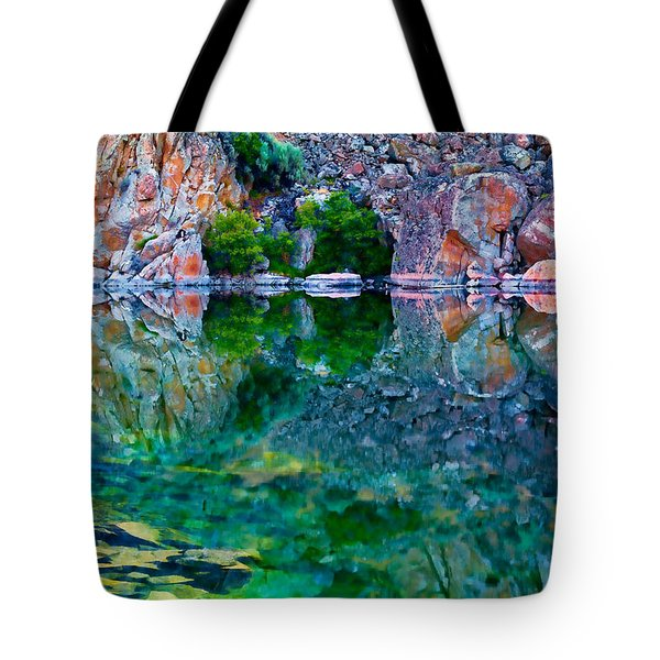Reflective Pool Tote Bag