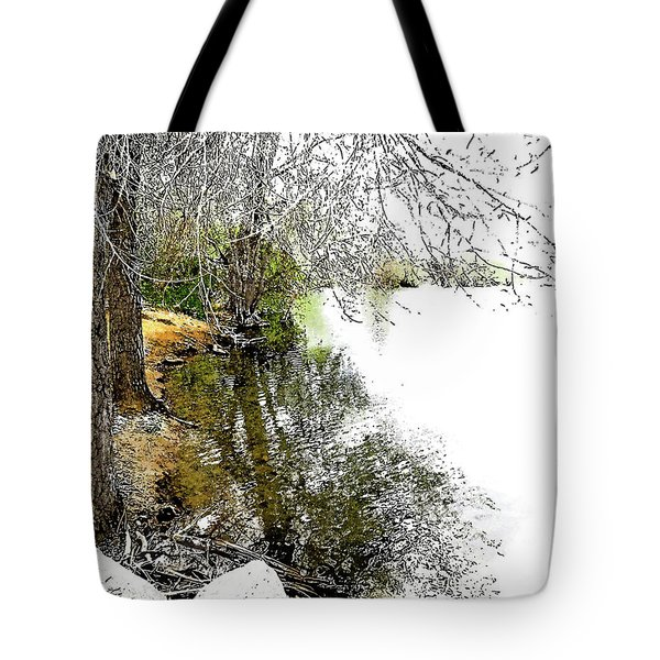 Reflective Trees Tote Bag