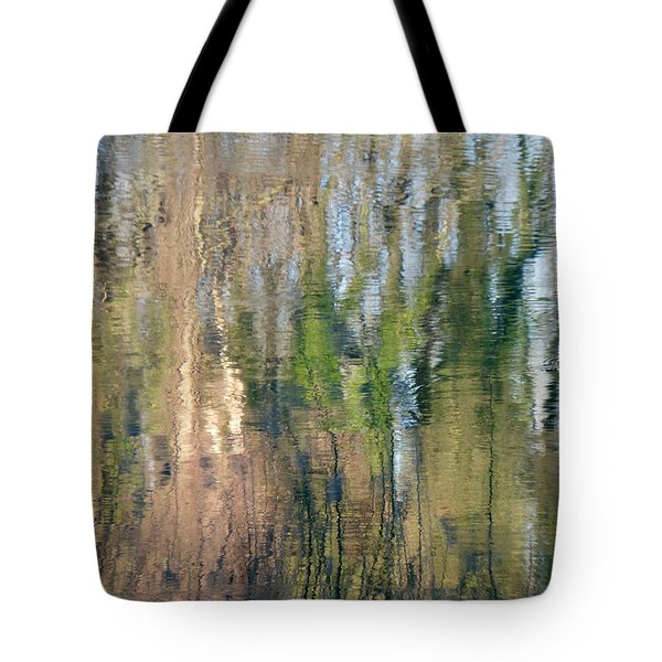 Tote Bag featuring the photograph Reflet Rhodanien Pastel 1 by Marc Philippe Joly