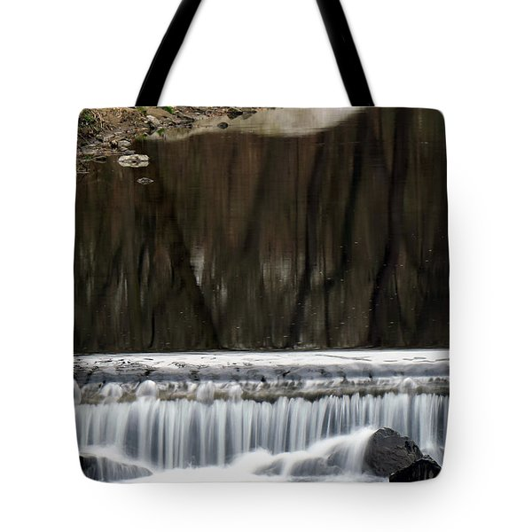 Tote Bag featuring the photograph Reflexions And Water Fall by Dorin Adrian Berbier