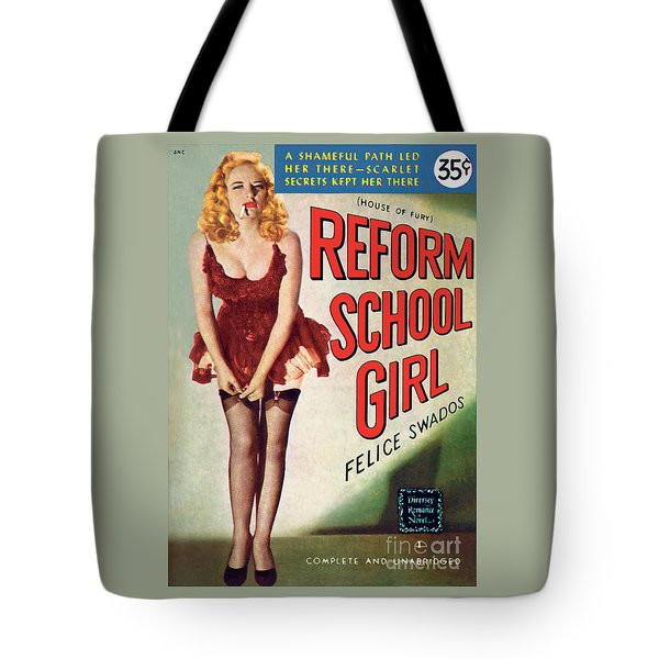 Tote Bag featuring the painting Reform School Girl by Photo Cover