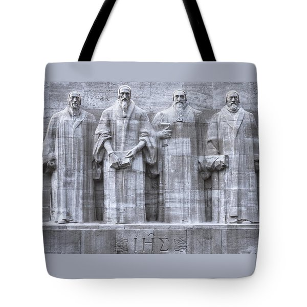 Reformers Wall, Geneva, Switzerland, Hdr Tote Bag by Elenarts - Elena Duvernay photo