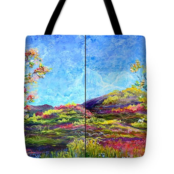 Refresh And Renew As A Diptych Orientation 1 Tote Bag by Regina Valluzzi