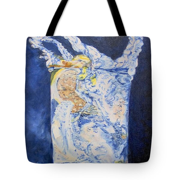 Tote Bag featuring the painting Refresh by Saundra Johnson