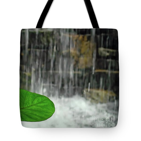 Tote Bag featuring the photograph Refreshed By The Waterfall by Sue Melvin