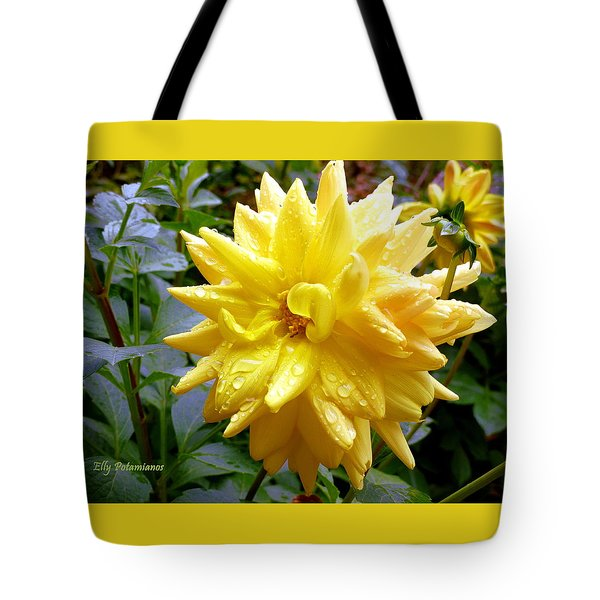 Refreshed Dahlia  Tote Bag