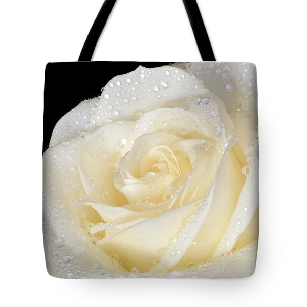 Refreshing Ivory Rose Tote Bag by Terence Davis