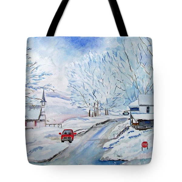 Refuge From The Storm Tote Bag by Christine Lathrop