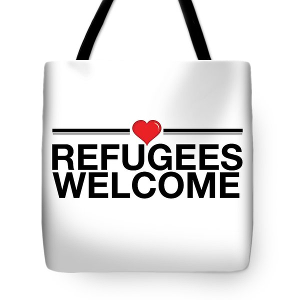 Refugees Wecome Tote Bag by Greg Slocum