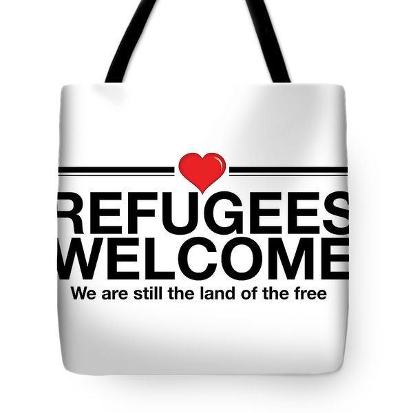 Refugees Welcome Tote Bag by Greg Slocum
