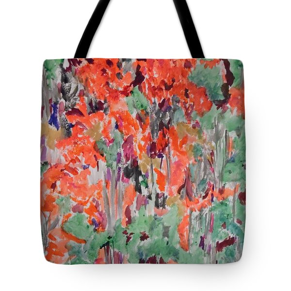 Regal Red Fall Foliage Tote Bag by Esther Newman-Cohen