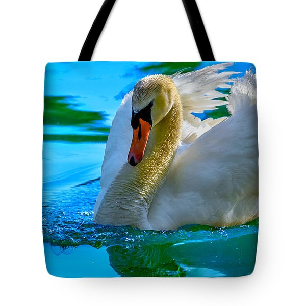 Regal Swan Tote Bag