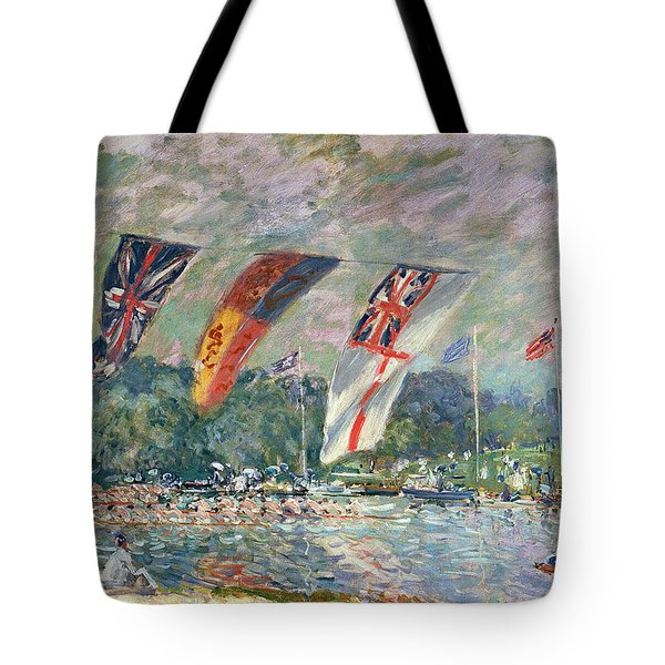 Regatta At Molesey Tote Bag by Alfred Sisley