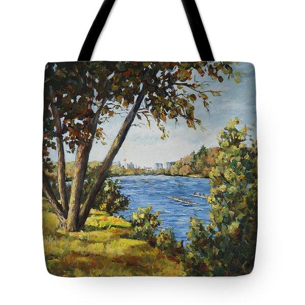 Regatta On The Rock River Tote Bag