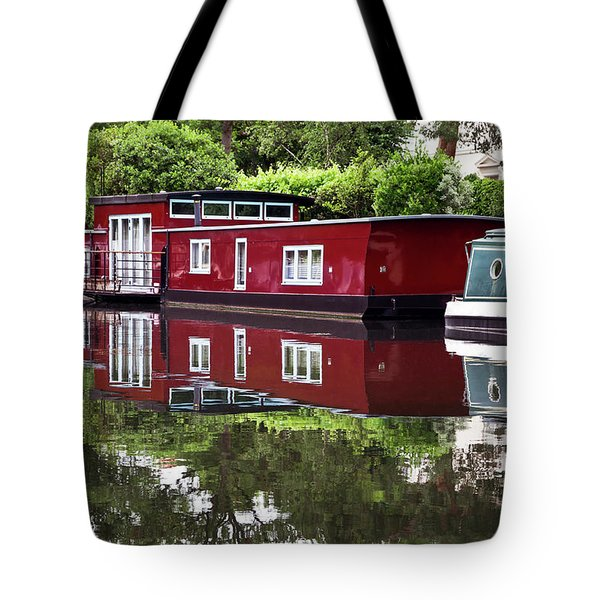 Tote Bag featuring the photograph Regent Houseboats by Keith Armstrong
