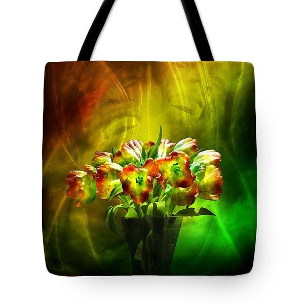 Reggae Tulips Tote Bag