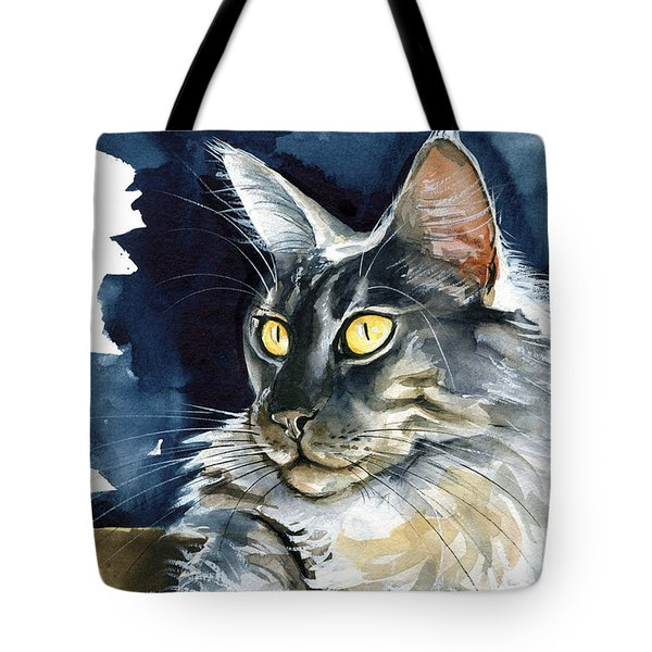 Regina - Maine Coon Painting Tote Bag