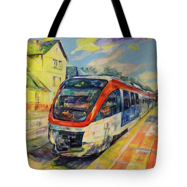 Regiobahn Mettmann Tote Bag by Koro Arandia
